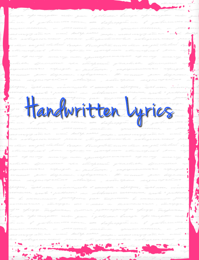 Get your hands on Bianca's Ryan's handwritten lyrics from her new music