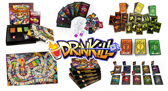 DRINKILL™ - A DRINKING BOARD GAME FOR TRUE PARTY PEOPLE