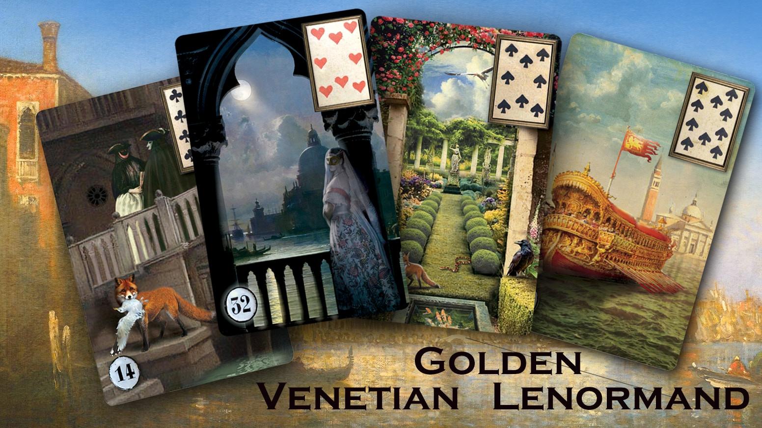 Golden Venetian Lenormand by Eugene Vinitski » One example of the