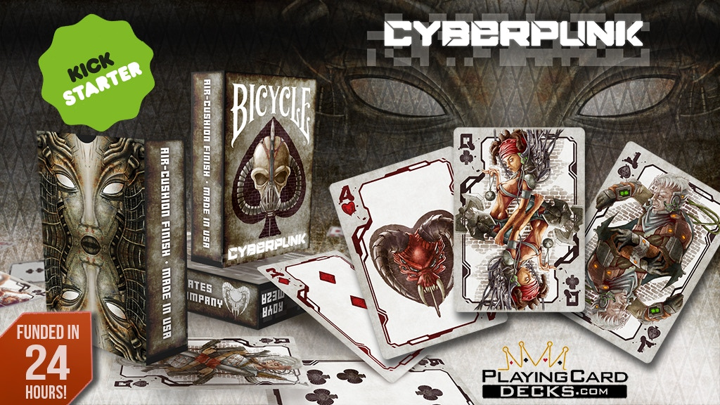 Cyberpunk Bicycle Playing Cards Poker Size Limited Edition project video thumbnail