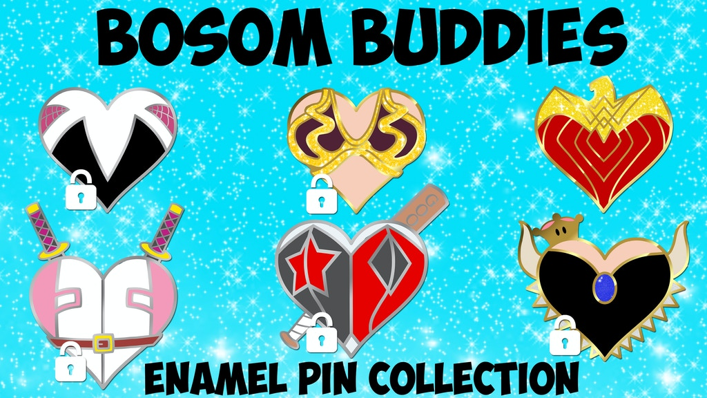 Bosom Buddies Enamel Pin Collection