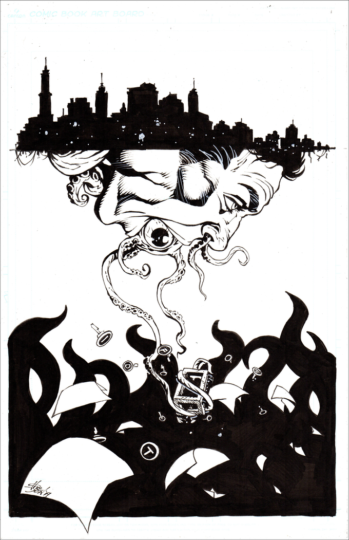 Don Walker's exclusive artwork. One backer at the $30 and above level will win this original piece