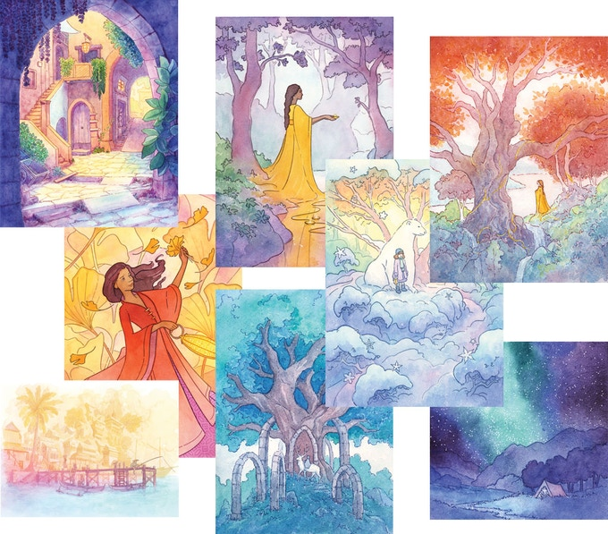 A selection of the paintings that are included in this year's book