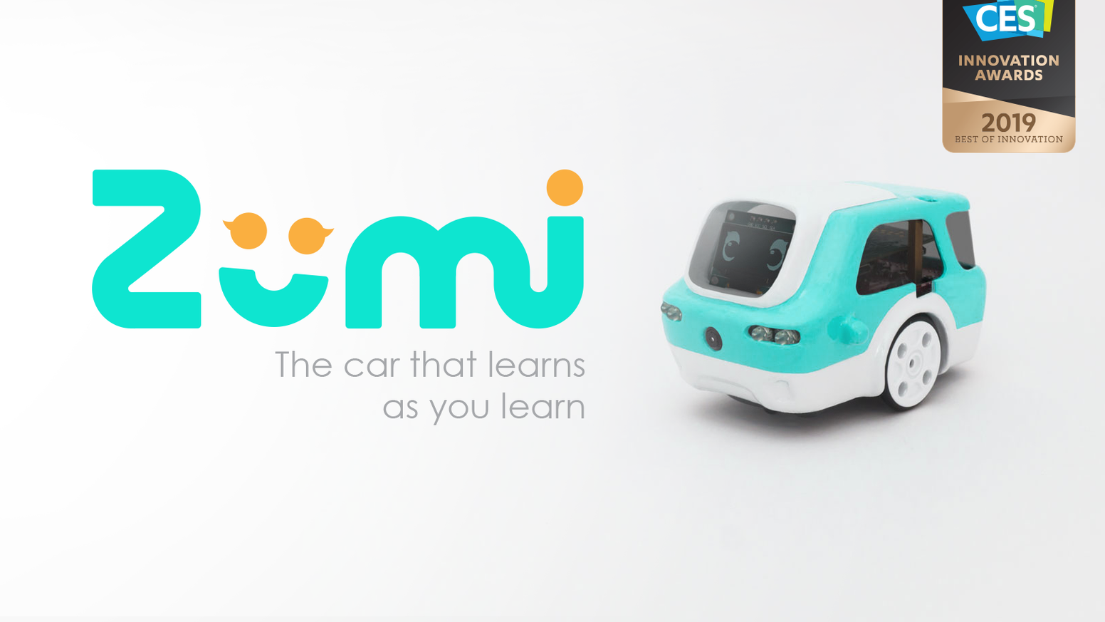Zümi is a friendly & approachable robot that makes the exciting world of artificial intelligence and self-driving cars accessible