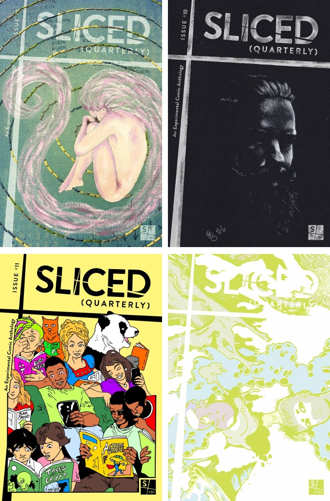 Covers By: Top Left: Sarah Harris - Top Right: Jenny Brown - Bottom Left: B.P. Johnson - Bottom Right: Konstantinos Moutzouvis