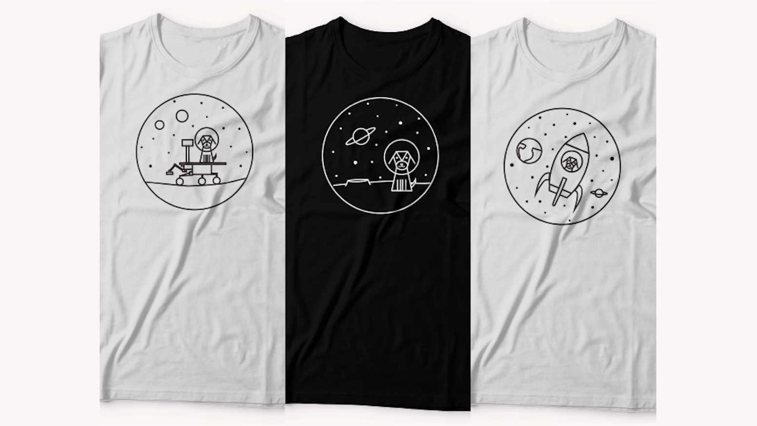 2e24f848bf0 Make 100  Dogs in Space T-Shirts by SNLouise — Kickstarter