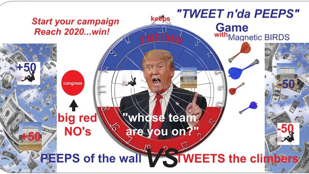 "Project image for TRUMP keeps ""TWEET n'da PEEPS"" game"