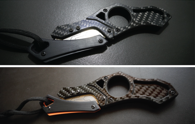 Tier II Backers CHOOSE Matte Black or Orange accented magnetic blade guards