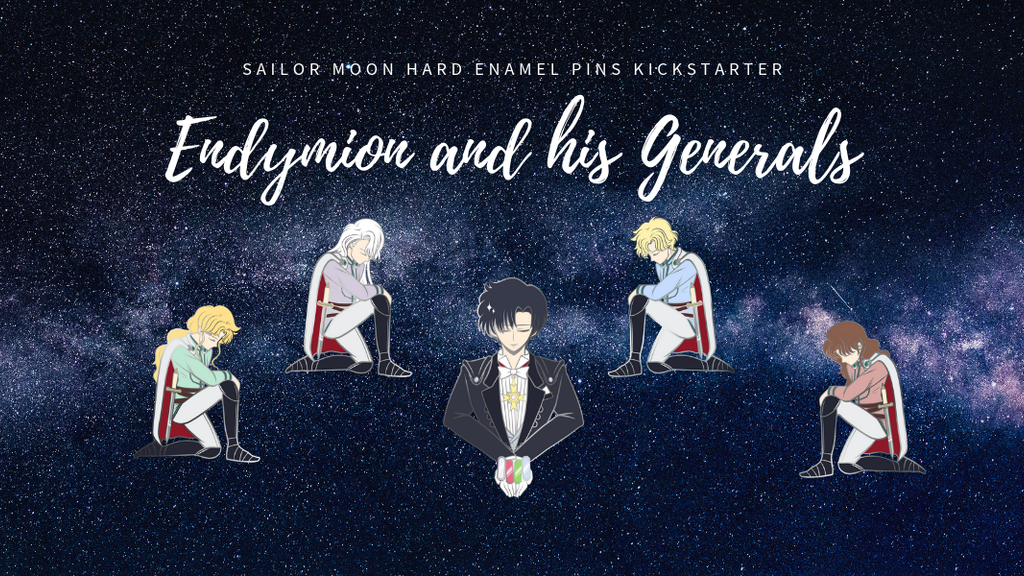 Endymion and his Generals: Sailor Moon Enamel Pins