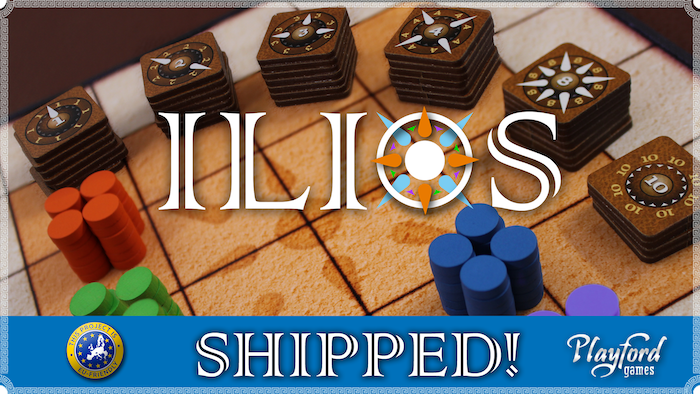 ILIOS - Raid, surround, and plunder in this addicting abstract strategy game played in under 30 minutes.