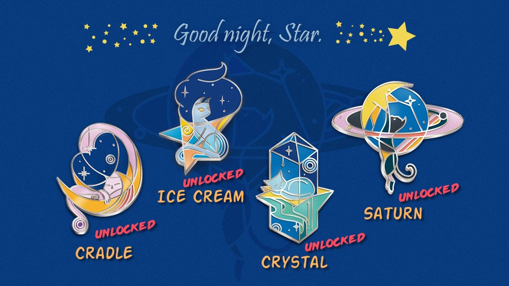 ★Good Night Star★ Hard Enamel Pin Series project video thumbnail