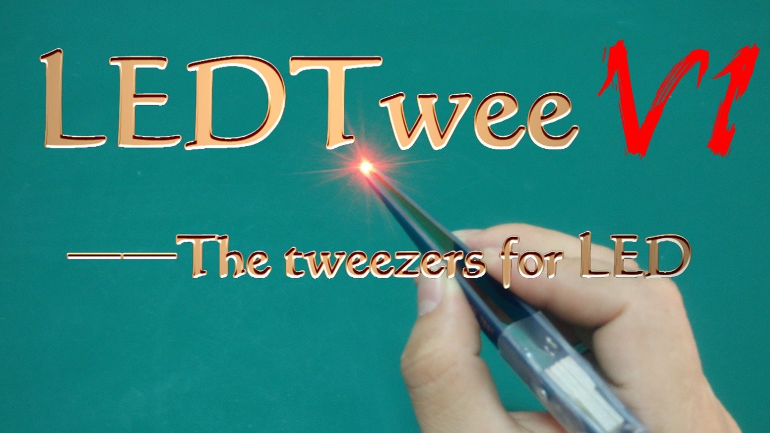 LEDTwee is the Tweezers easy  and efficiet to test LED and used to check anysize and color LED or LED Module.You should have one!!