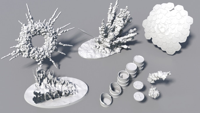 BattleFX - 3D Printable visual effects by Deadly Print Studio