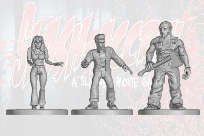 3 of the Miniatures included in the game