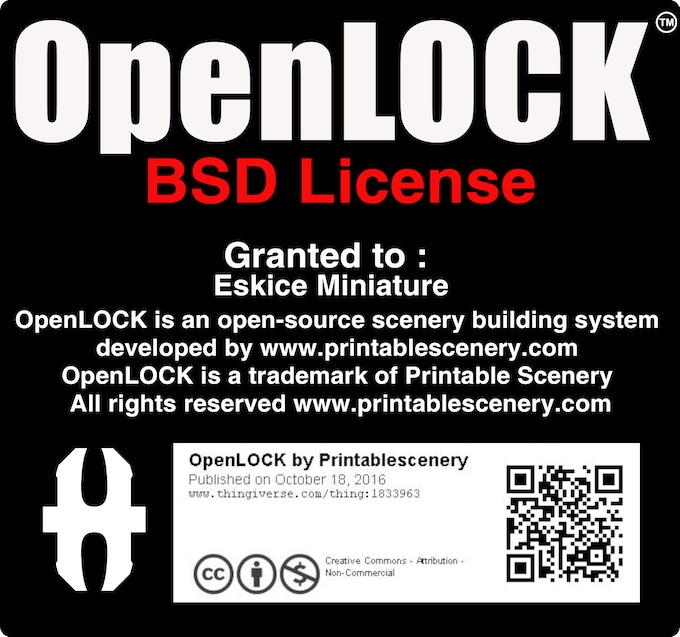 My OpenLOCK license!