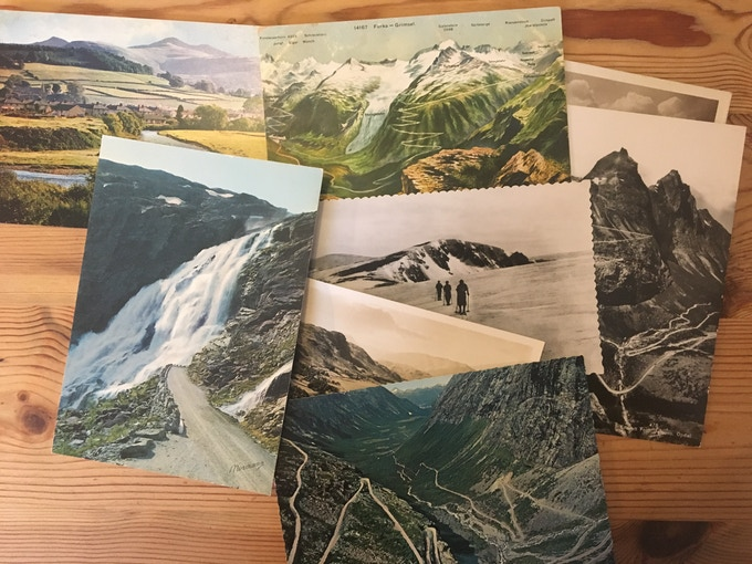 A few vintage postcards from the collection