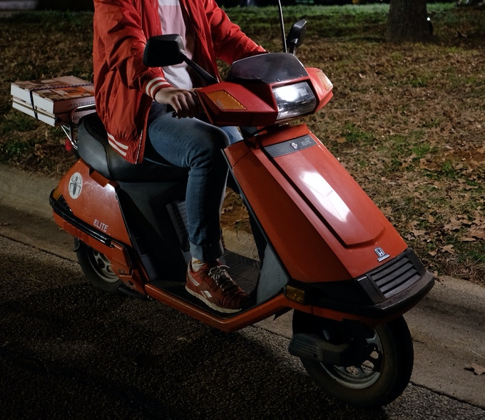 Impress your friends by driving home the actual scooter used in the film!