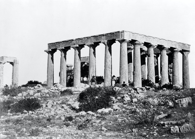 Temple of Athena, Aegina Island, Greece ( 1850-1880 )/Library of Congress