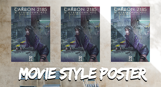 The Carbon 2185 Posters are perfect for decorating a gang hideout or saferoom!