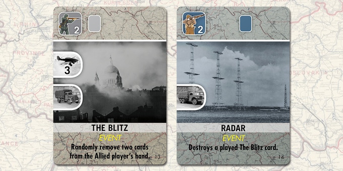 Enlarged Sample of Allied Cards