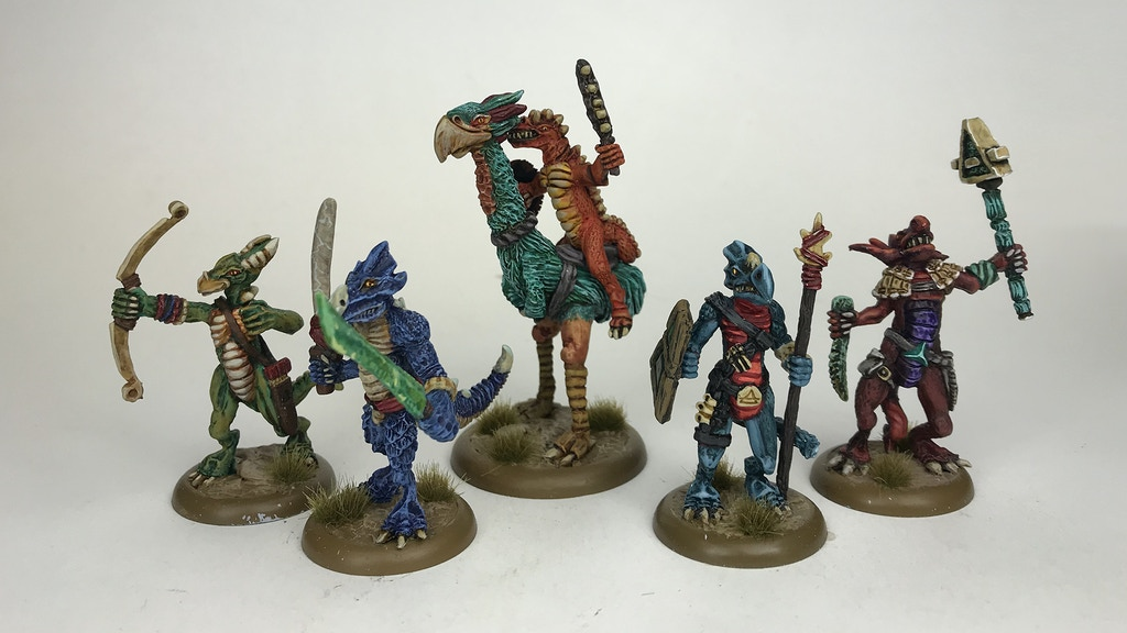 RuneQuest Dragonewt Miniatures and Scenery