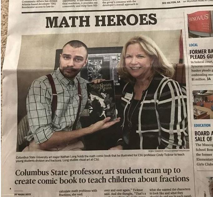 Our local newspaper featured us when they heard about our work.