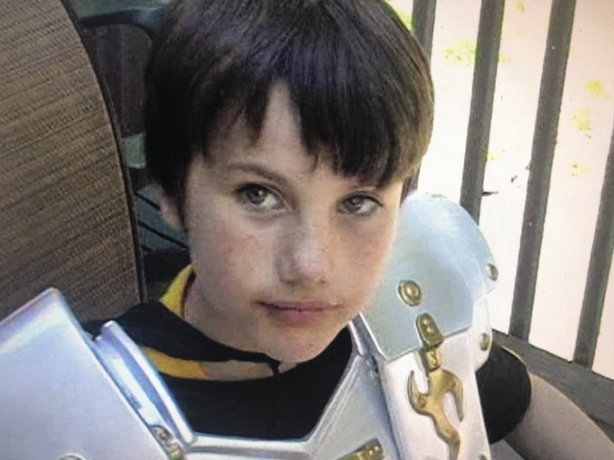 """Little creator Cole as Colagorn, in his first film """"Conquest Freedom"""""""