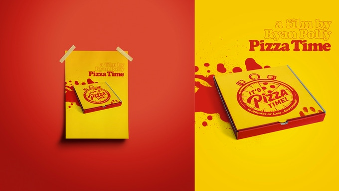 Limited edition 18x24 Pizza Time poster designed by Bret Hawkins