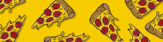 Like pizza? Like pins? It's pizza. On a pin.