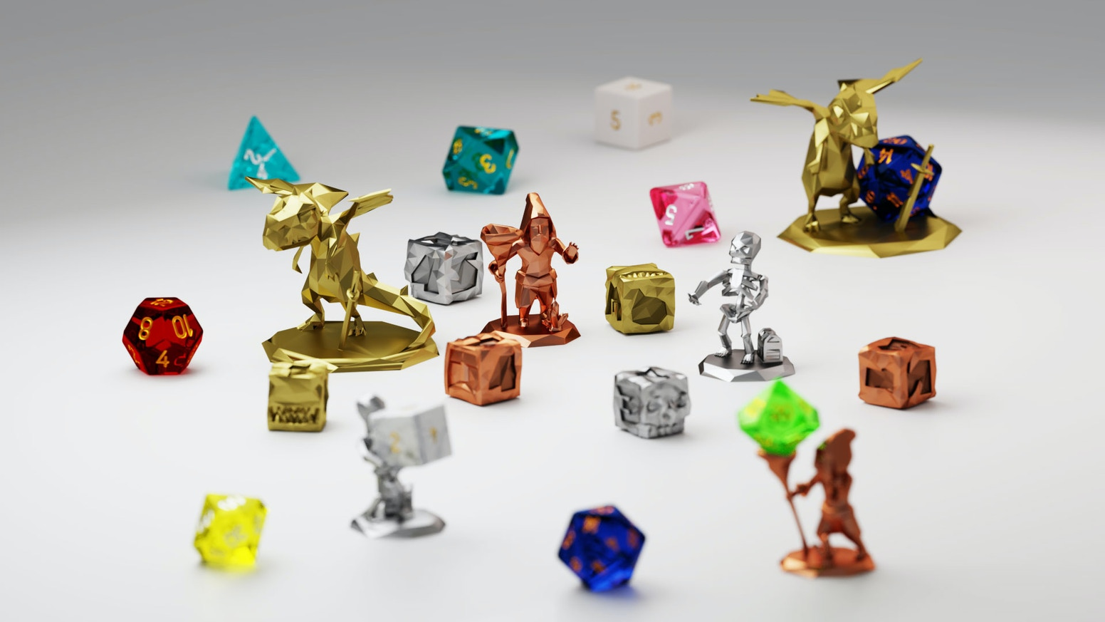 Introducing the World's First Series of Low Poly Character Dice