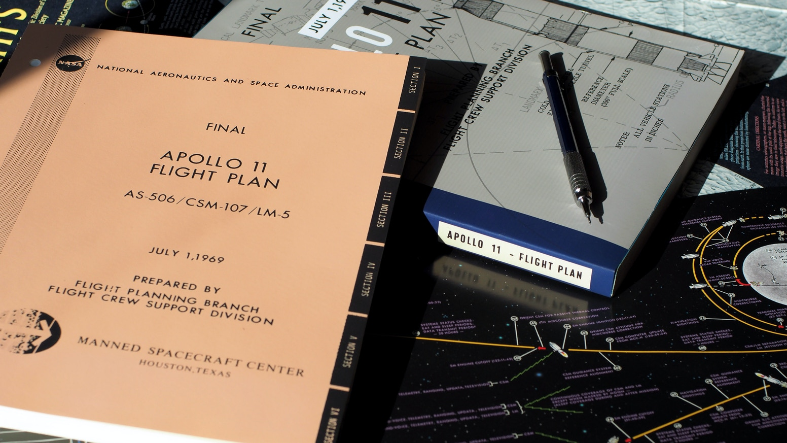 The original 1969 apollo 11 flight plan restored and reprinted in honor of the 50th