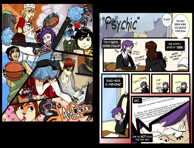 One of my earliest concepts for Anarchy Dreamers, called AN2090. 2009  (not reflective of final page layouts)