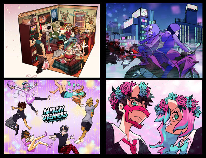 Anarchy Dreamers 2018 Calendar Illustrations, 2017 (not reflective of final page layouts)