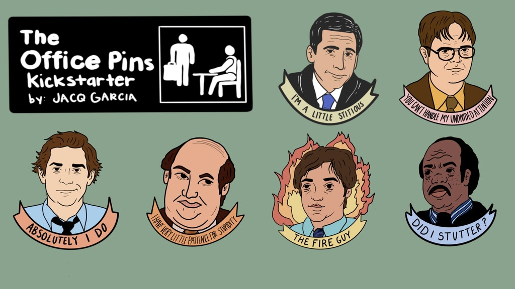 The Office Inspired Enamel Pins