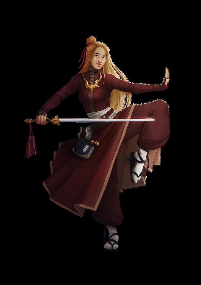 Ai the Golden Blade, CG Female Human Exemplar