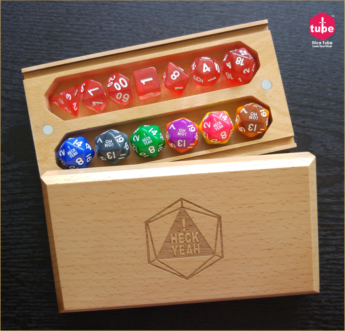 Heck Yeah Dice Box can be hold 2 sets of 7 dice set.