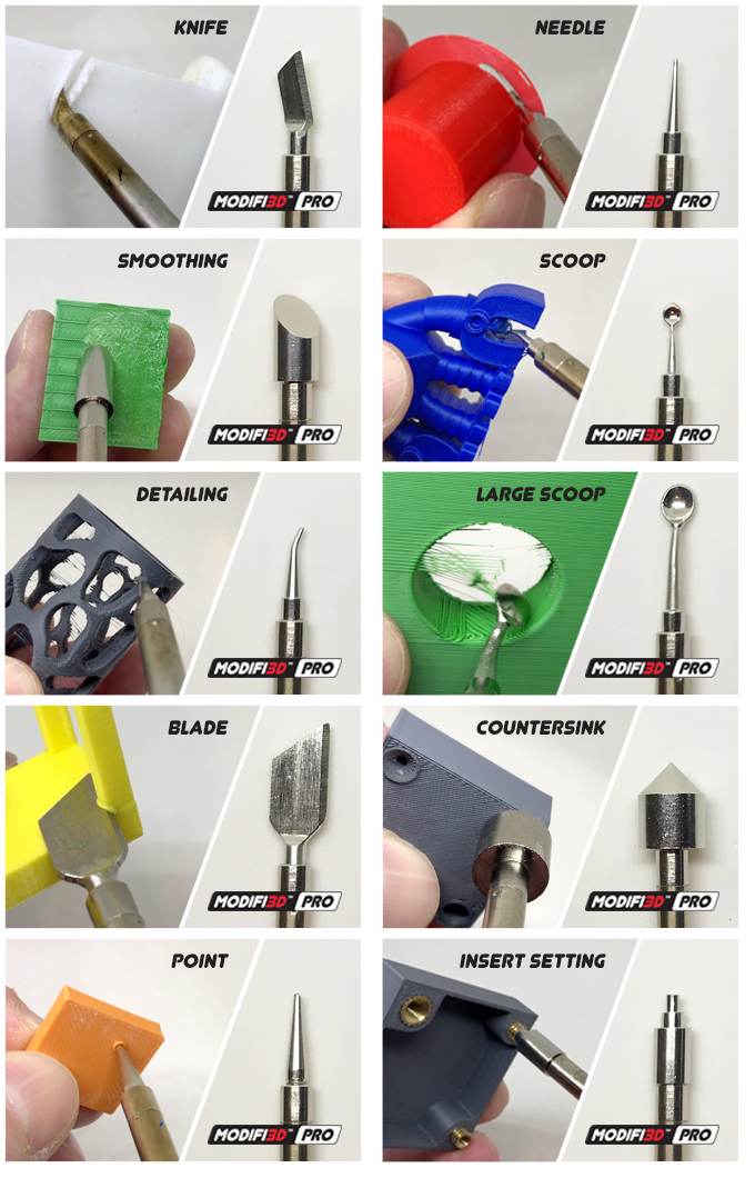 Tip construction gives potential for new tips, adaptors and attachments to allow additional functions in the future.