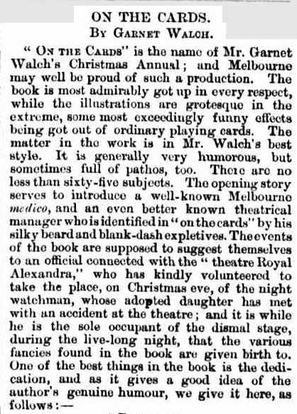 """Newspaper clipping from """"The Telegraph (Brisbane, Qld) Wed 19 Jan 1876"""