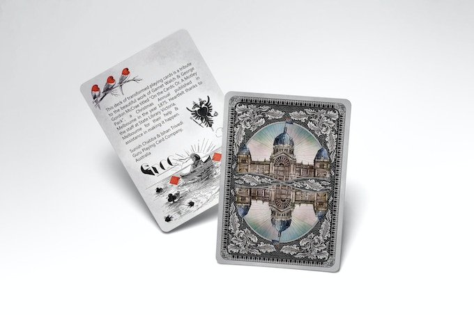 Royal Exhibition Building Card Back (hand-drawn and inspired from chromolithographic prints)