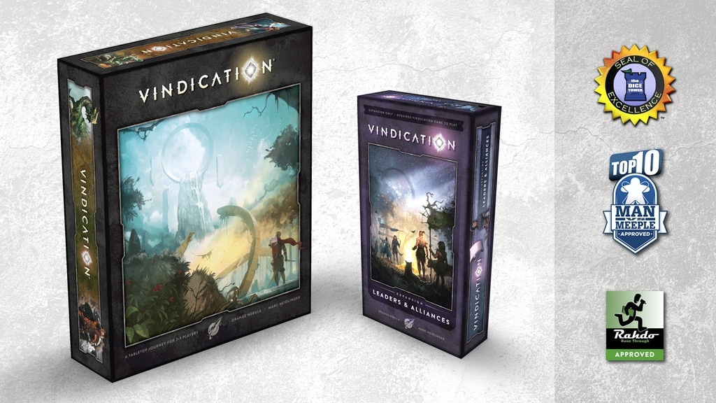 Vindication® Boardgame project video thumbnail