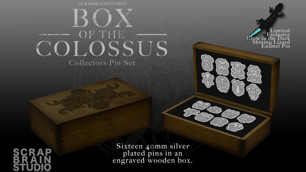 Box of the Colossus Limited Edition Enamel Pin Set
