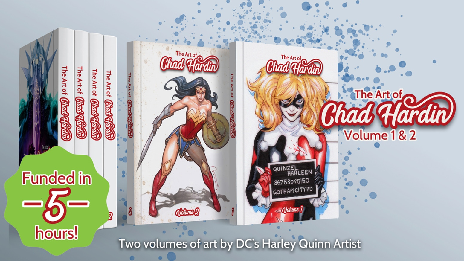 A collection of covers, pinups, and sketches by DC Harley Quinn artist Chad Hardin.