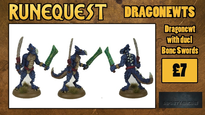 Dragonewt with duel Bone Swords