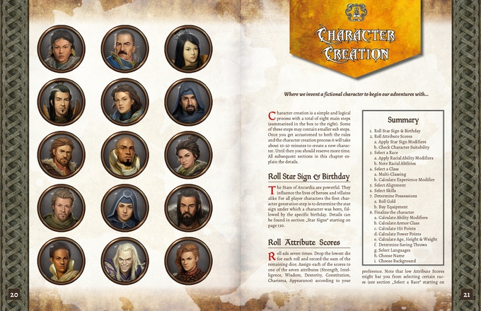 ADOM RPG PHB: Character Creation
