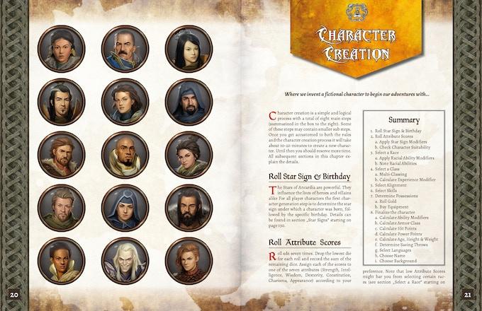 ADOM RPG PHB: Character Creation