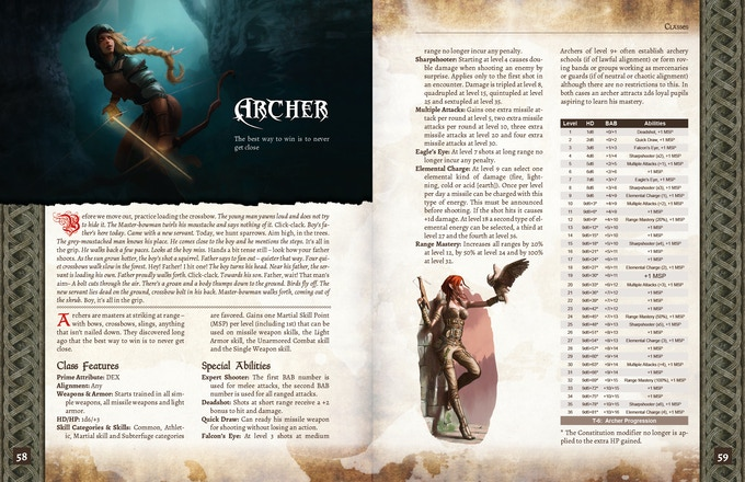 ADOM RPG PHB: The Archer Character Class (Draft)