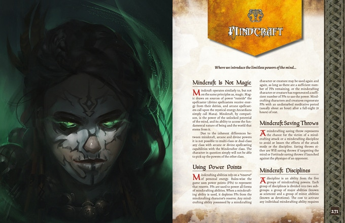 ADOM RPG PHB: Mindcrafting