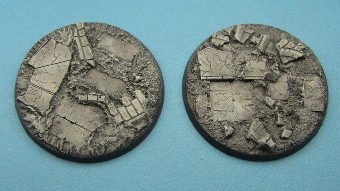 60mm Ruined City Bases