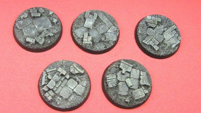 40mm Ruined City Bases