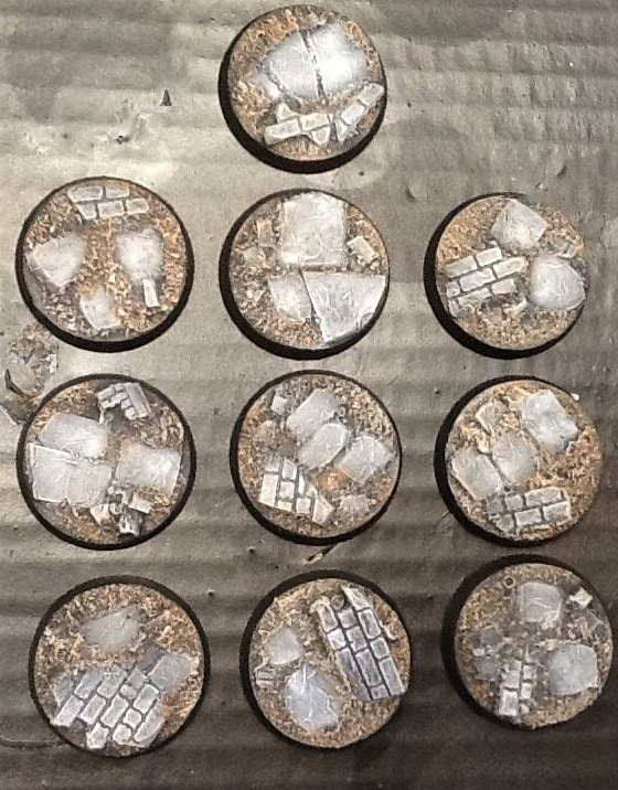 32mm Ruined City Bases